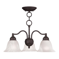 Livex 1343-07 Essex 3 Light 20 inch Bronze Chandelier/Ceiling Mount Ceiling Light