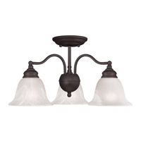 Livex Lighting Essex 3 Light Chandelier/Ceiling Mount in Bronze 1343-07 alternative photo thumbnail