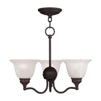 Livex Lighting Essex 3 Light Chandelier in Bronze 1344-07