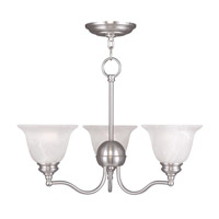 Livex Lighting Essex 3 Light Chandelier in Brushed Nickel 1344-91