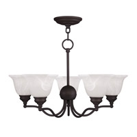 Livex Lighting Essex 5 Light Chandelier in Bronze 1345-07