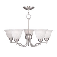 Livex Lighting Essex 5 Light Chandelier in Brushed Nickel 1345-91