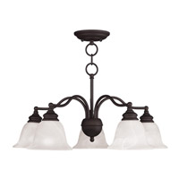 Essex 5 Light 24 inch Bronze Chandelier/Ceiling Mount Ceiling Light