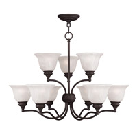 Livex Lighting Essex 9 Light Chandelier in Bronze 1349-07