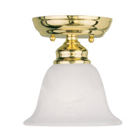 Livex 1350-02 Essex 1 Light 6 inch Polished Brass Ceiling Mount Ceiling Light
