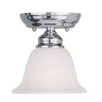 Livex Lighting Essex 1 Light Ceiling Mount in Chrome 1350-05