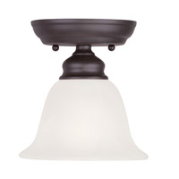 Livex Lighting Essex 1 Light Ceiling Mount in Bronze 1350-07 photo thumbnail