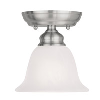 Livex 1350-91 Essex 1 Light 6 inch Brushed Nickel Ceiling Mount Ceiling Light photo thumbnail