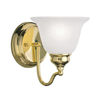 Livex Lighting Essex 1 Light Bath Light in Polished Brass 1351-02