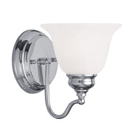 Livex Lighting Essex 1 Light Bath Light in Polished Chrome 1351-05 photo thumbnail