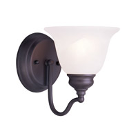 Livex Lighting Essex 1 Light Bath Light in Bronze 1351-07