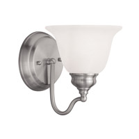 Livex Lighting Essex 1 Light Bath Light in Brushed Nickel 1351-91