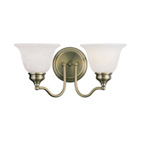 Livex Lighting Essex 2 Light Bath Light in Antique Brass 1352-01
