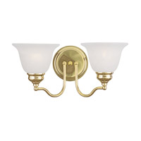 Livex 1352-02 Essex 2 Light 15 inch Polished Brass Bath Light Wall Light photo thumbnail