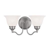 Livex 1352-91 Essex 2 Light 15 inch Brushed Nickel Bath Light Wall Light