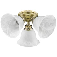 Livex 1358-01 Essex 3 Light 15 inch Antique Brass Ceiling Mount Ceiling Light alternative photo thumbnail