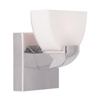 Livex Lighting Gemini 1 Light Bath Light in Chrome 1361-05