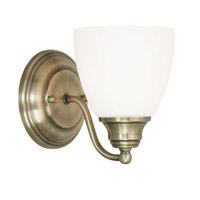 Livex Somerville 1 Light Wall Sconce in Antique Brass 13671-01