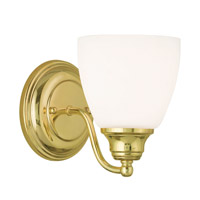 Livex Somerville 1 Light Wall Sconce in Polished Brass 13671-02