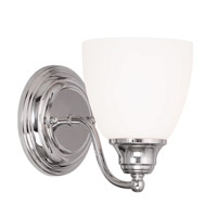 Livex Somerville 1 Light Wall Sconce in Chrome 13671-05