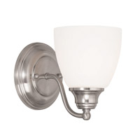 Livex Somerville 1 Light Wall Sconce in Brushed Nickel 13671-91