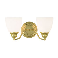 Livex Somerville 2 Light Vanity Light in Polished Brass 13672-02