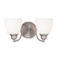 Somerville 2 Light 15 inch Brushed Nickel Vanity Light Wall Light