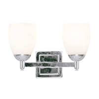 Livex Lighting Bloomfield 2 Light Bath Light in Polished Chrome 1402-05 photo thumbnail