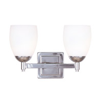 Livex Lighting Bloomfield 2 Light Bath Light in Polished Nickel 1402-35 photo thumbnail