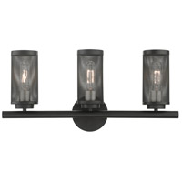 Livex Lighting 14123-04 Industro 3 Light 24 inch Black with Brushed Nickel Accents Vanity Sconce Wall Light