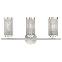 Livex 14123-91 Industro 3 Light 24 inch Brushed Nickel Vanity Sconce Wall Light