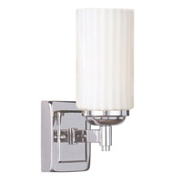 Livex Lighting Madison 1 Light Bath Light in Polished Nickel 1421-35