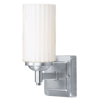 Livex 1421-91 Madison 1 Light 5 inch Brushed Nickel Bath Light Wall Light photo thumbnail