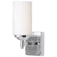 Livex 1421B-05 Madison 1 Light 5 inch Polished Chrome Bath Light Wall Light