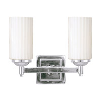 Livex Lighting Madison 2 Light Bath Light in Chrome 1422-05