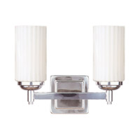 Madison 2 Light 12 inch Polished Nickel Bath Light Wall Light