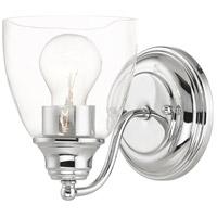 Livex 15131-05 Montgomery 1 Light 5 inch Polished Chrome Vanity Sconce Wall Light