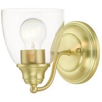 Livex 15131-12 Montgomery 1 Light 5 inch Satin Brass Vanity Sconce Wall Light
