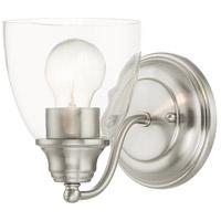 Livex 15131-91 Montgomery 1 Light 5 inch Brushed Nickel Vanity Sconce Wall Light