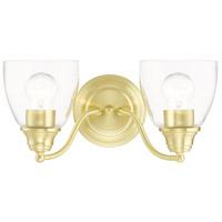 Livex 15132-12 Montgomery 2 Light 14 inch Satin Brass Vanity Sconce Wall Light