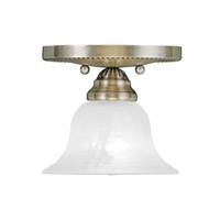 Livex Lighting Edgemont 1 Light Ceiling Mount in Antique Brass 1530-01