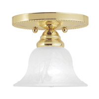 Livex 1530-02 Edgemont 1 Light 7 inch Polished Brass Ceiling Mount Ceiling Light