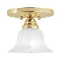 Livex 1530-02 Edgemont 1 Light 7 inch Polished Brass Ceiling Mount Ceiling Light