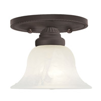 Livex Lighting Edgemont 1 Light Ceiling Mount in Bronze 1530-07