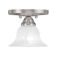 Livex 1530-91 Edgemont 1 Light 7 inch Brushed Nickel Ceiling Mount Ceiling Light photo thumbnail
