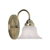 Livex 1531-01 Edgemont 1 Light 7 inch Antique Brass Bath Light Wall Light