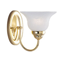 Edgemont 1 Light 7 inch Polished Brass Bath Light Wall Light
