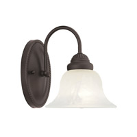 Livex Lighting Edgemont 1 Light Bath Light in Bronze 1531-07