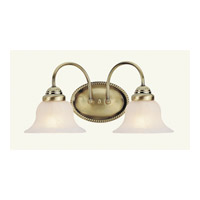 Livex 1532-01 Edgemont 2 Light 14 inch Antique Brass Bath Light Wall Light