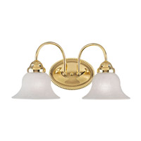 Livex 1532-02 Edgemont 2 Light 14 inch Polished Brass Bath Light Wall Light